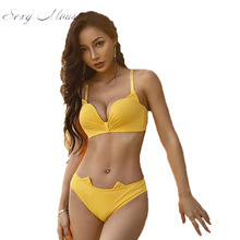 sexy mousse bra and panties set cute cat lingerie wireless push up green black cotton new arrival women underwear