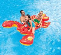 Inflatable Float Ride On Lobster Swimming Pool Toy For Kids Rideable