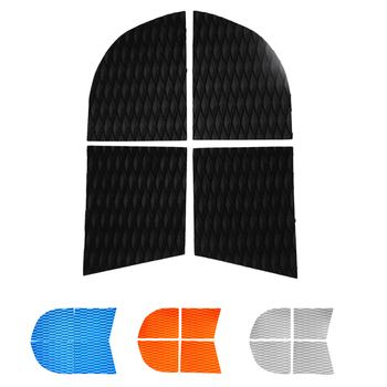 4 Pieces Adhesive Anti-slip EVA Dog Traction Pad Deck Grip Mat Tail Pad Trim Sheet for SUP Paddleboard Longboard Surfboard