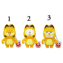USB Stick Cartoon Figure Cute Garfield USB Flash Drive 8GB 16GB 32GB Free Ship USB Flash Memory Stick Pen Drive
