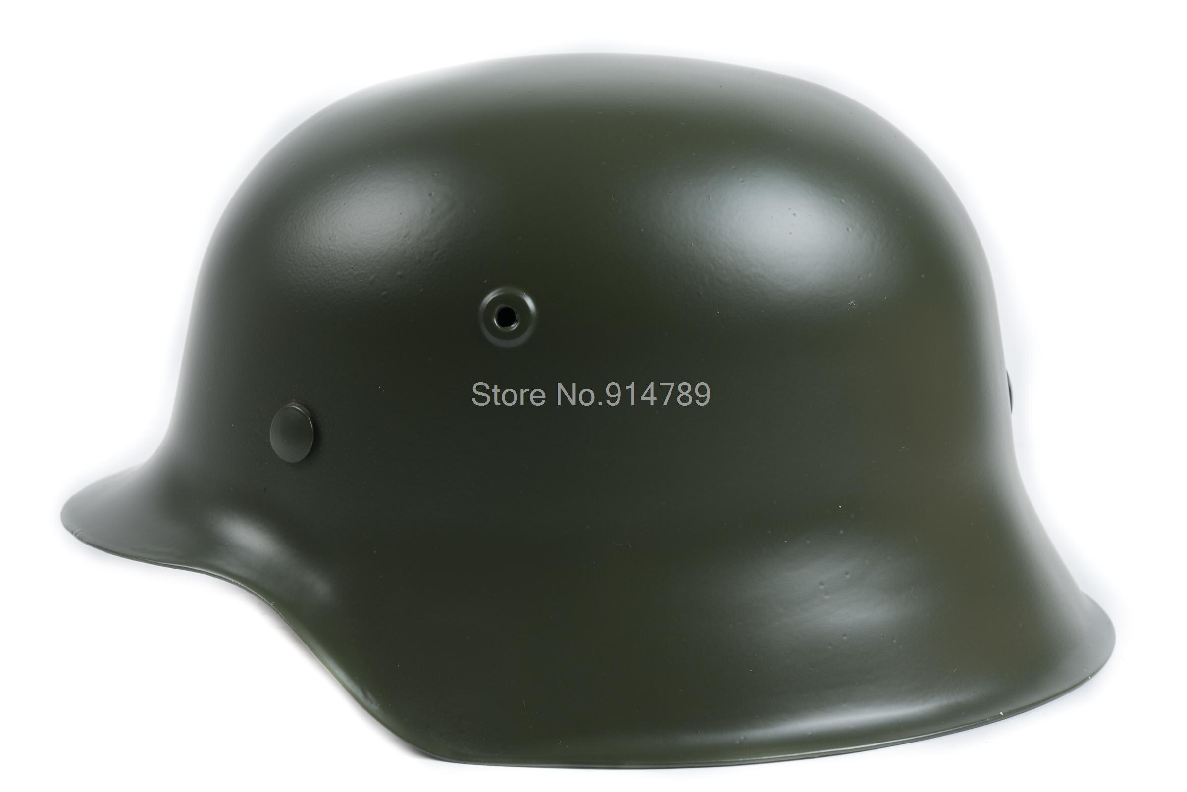 WW2 D'ÉLITE ALLEMANDE WH L'ARMÉE M42 M1942 ACIER CASQUE VERT-35360