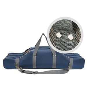 Image 4 - Taşınabilir çok fonksiyonlu balıkçı çantası Pesca tuval 80/90/100/120CM olta 3 katmanlı 4 katmanlı seyahat taşıma çantası Pesca XA49G