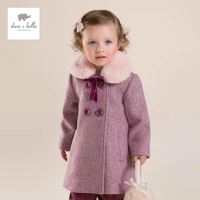 DB3958 davebella meninas crianças casaco de inverno casacos de alta qualidade