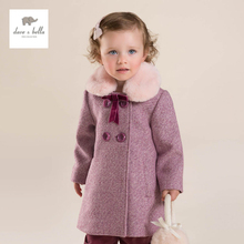 DB3958 davebella winter girls coat children outerwear high quality