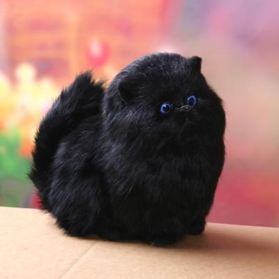 black simulation cat toy polyethylene & furs creative sounds cat doll gift 16x12cm 1570