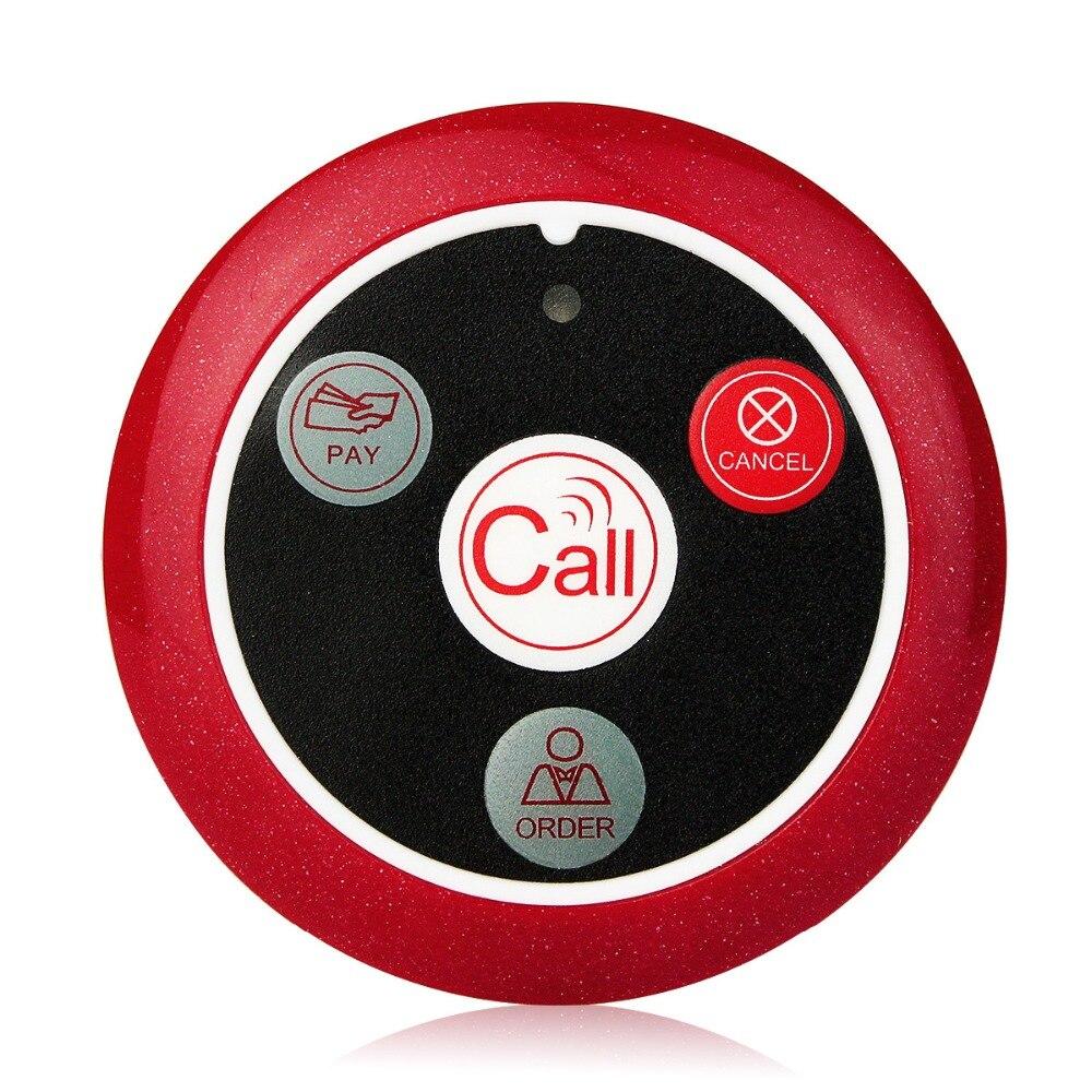 10 pièces T117 433 MHz Restaurant téléavertisseur sans fil serveur système d'appel bouton d'appel téléavertisseur quatre clés Restaurant équipements restauration - 2