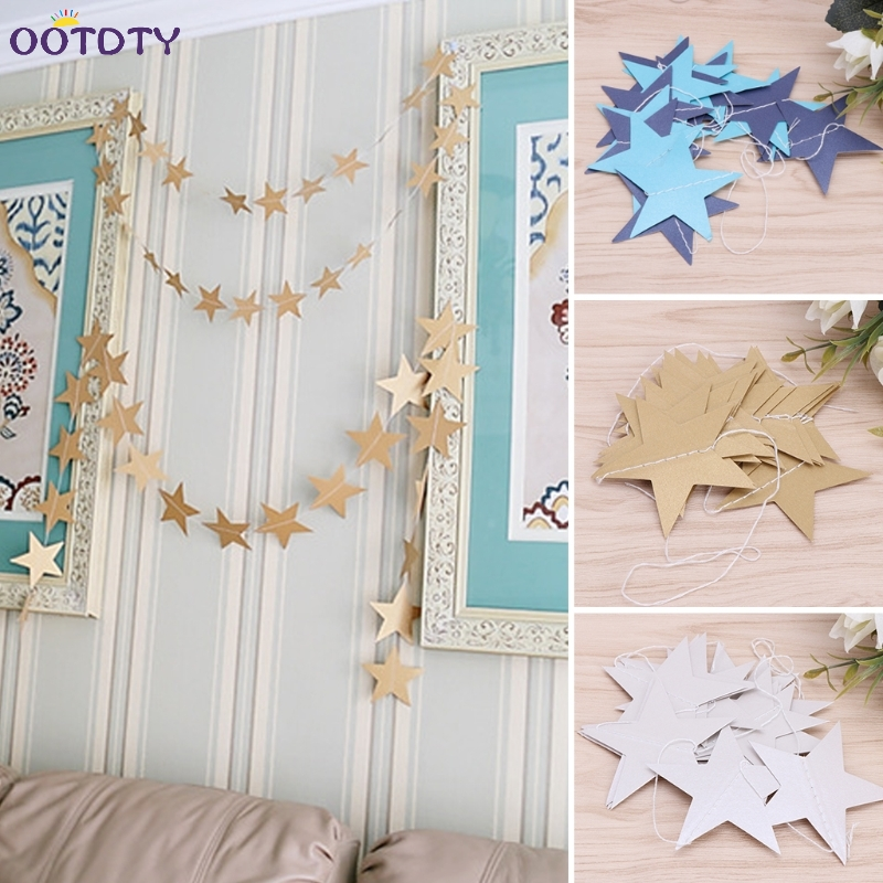 Glitter Paper Star Garland Hanging Banner Christmas Decoration 1st Birthday Baby Shower Baby Room Decor Party Supplies Nov