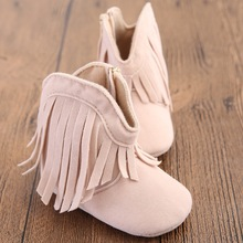 New Fashion Autumn Winter Newborn Baby Children Kid First Walkers Fringe Soft Bottom Boots Booties Crib Bebe Girl Boy Shoes(China)