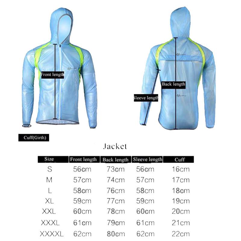 ROCKBROS Waterproof Cycling Jersey breathable Jacket Jersey Windproof Coat Clothing MTB Reflective Bike Road Raincoat RK0019 (1)