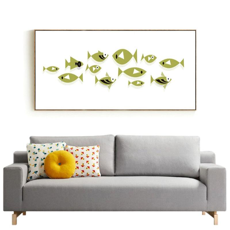 Haochu moderno simple resumen peces pequeños fresca decoración ...