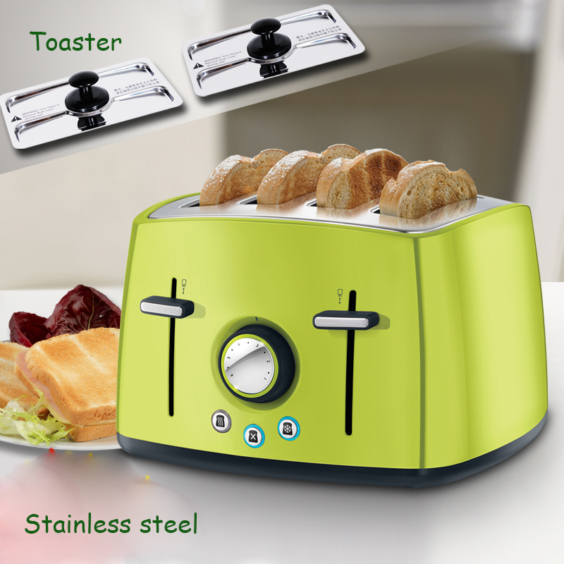 1600W Automatic Toaster 4 Slices Bread Toaster With Mechanical Timer Stainless Steel Bread Baking Machine 6524