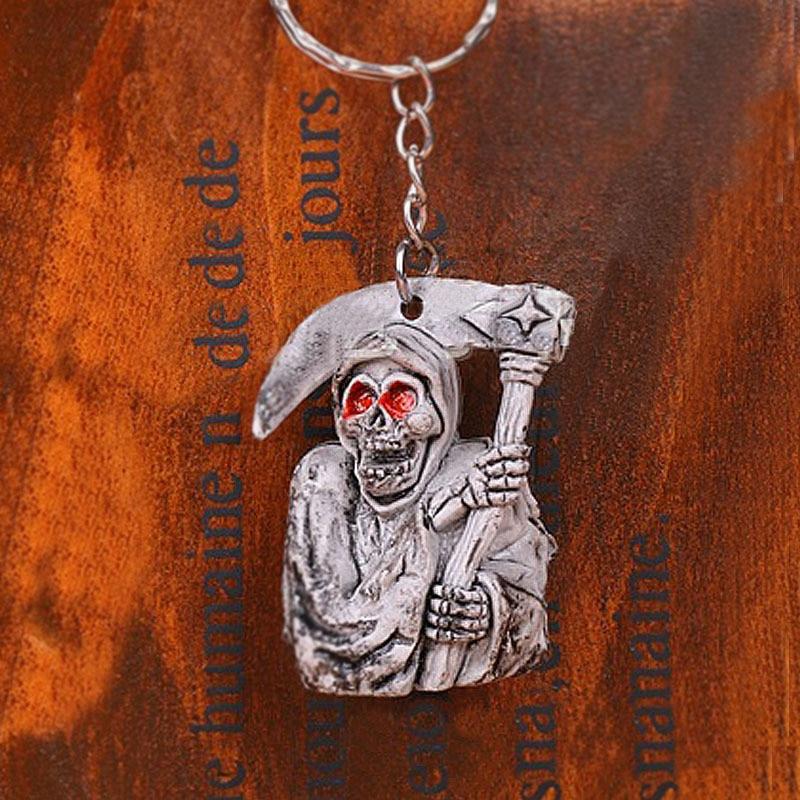 Օրիգինալ նոր մահվան գանգի ստեղնաշարի - Նորաձև զարդեր - Լուսանկար 4