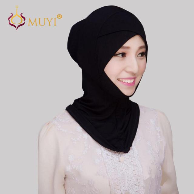 Muslim Women Hijabs Ninja Underscarf Hijab Cap Islamic Bandana Head Coverings Full Cover Cotton Inner Wear Plain Undercaps
