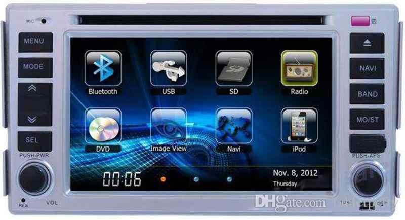 """6,2 """"Автомобильный dvd-плеер с gps (ОПТ), USB, BT/tv, аудио Радио стерео, автомобильный мультимедиа для hyundai Elantra 2000-2006/Santa Fe 2007-2011"""