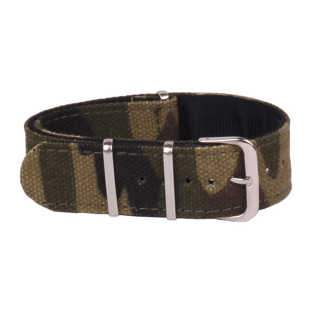 Wholesale Classical Watchbands DIY Mens Military Army Nylon Watches camouflage Straps Wristwatch Band Buckle 20mm Gift
