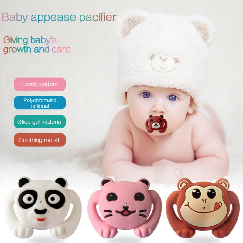 Feeding Baby Silicone Pacifier Cartoon Funny Nipple Dummy Pacifier Infant Baby Pacifier Care New 1pcs