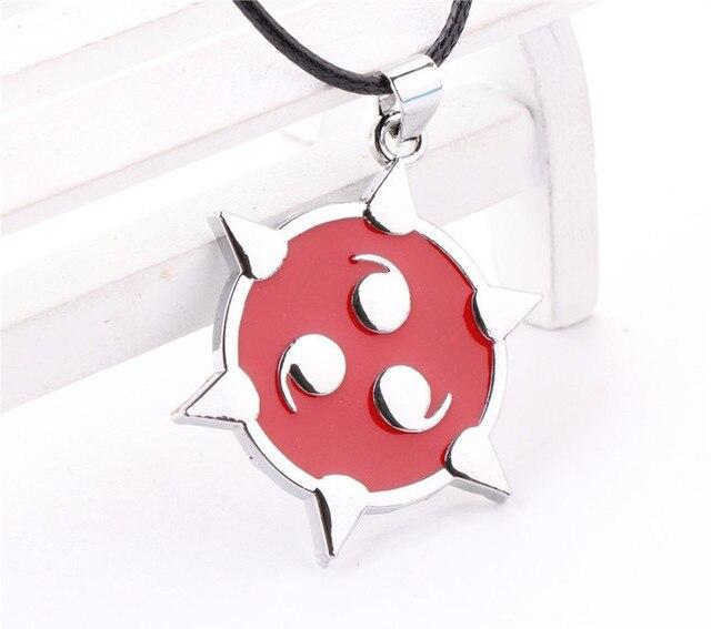 Naruto Pendant Necklace ninja tritium necklaces leather neckless men collars pingente for best friends