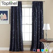 Top Finel Better Modern Star Curtains for Children Kid Baby Room 100% Polyester Soft Hypoallergeni Room Darking 85% Blackout