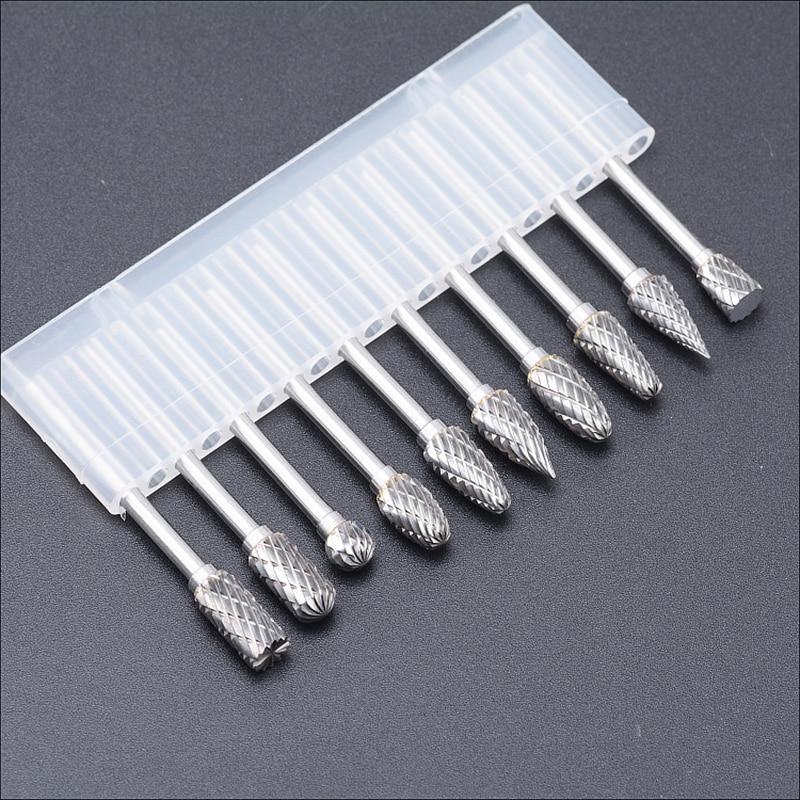 Frese in carburo di tungsteno set 10 mini accessori per punte rotanti - Utensili abrasivi - Fotografia 2