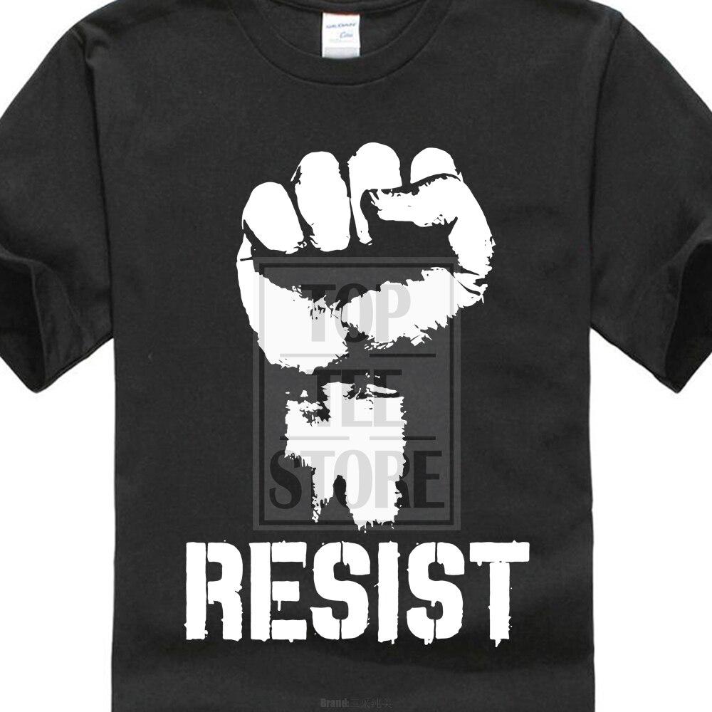 Resist Political Anti Protest Power Fist Trump T Shirt Politics S