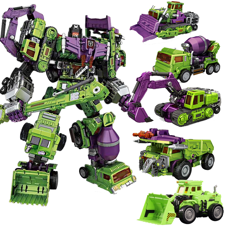 цена на 6 In 1 Classic Devastator Transformation Ko GT-1A  Technical Deformation Devastator Robot Figure Toys Gift