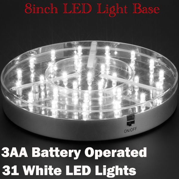 10pcslot 8inch Led Centerpiece Light With 31pieces White Led Light