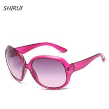 Simples de Grandes Dimensões Óculos De Sol Das Mulheres Do Vintage 2018  Rosa Vermelha Marca de Luxo Óculos de Sol Para Mulheres . f032b57ffb