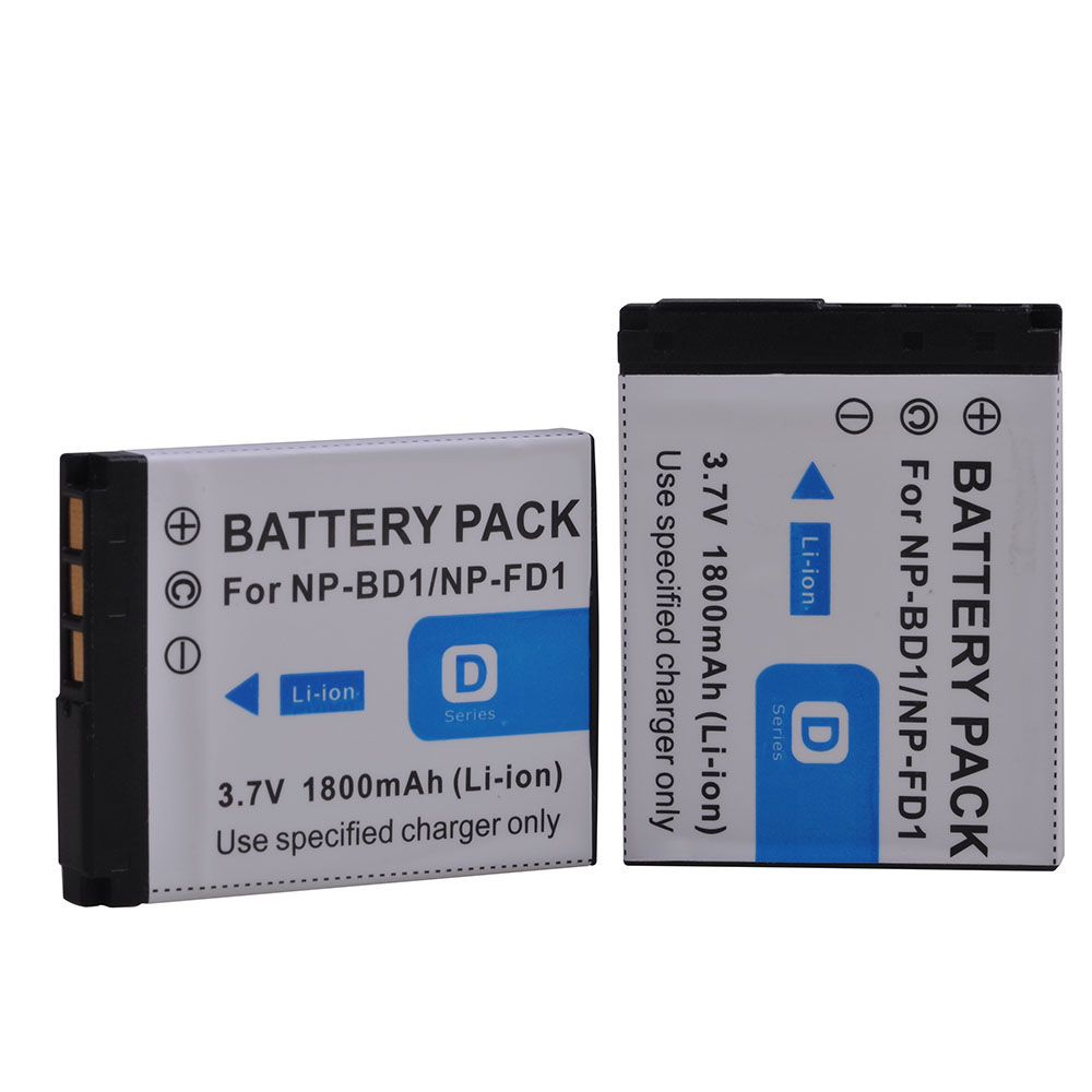 2pcs 3.7v 1800mah Np-bd1 Np-fd1 Rechargeable Li-ion Battery Bateria For Sony T2 T200 T70 T700 T300t77 T500 T90 T900 Tx1