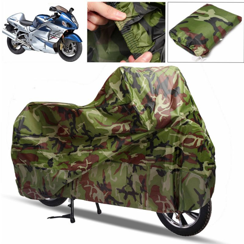 Camouflage Motorcycle Waterproof Cover Outdoor UV Protector Bike Rain Dustproof Scooter Covers L XL XXL