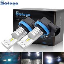 Safego 2PCS H8 H9 H11 H16 LED Fog light Bulbs 800LM CSP Chip Car Headlights Auto Driving Lamp 12V24V 6500K White
