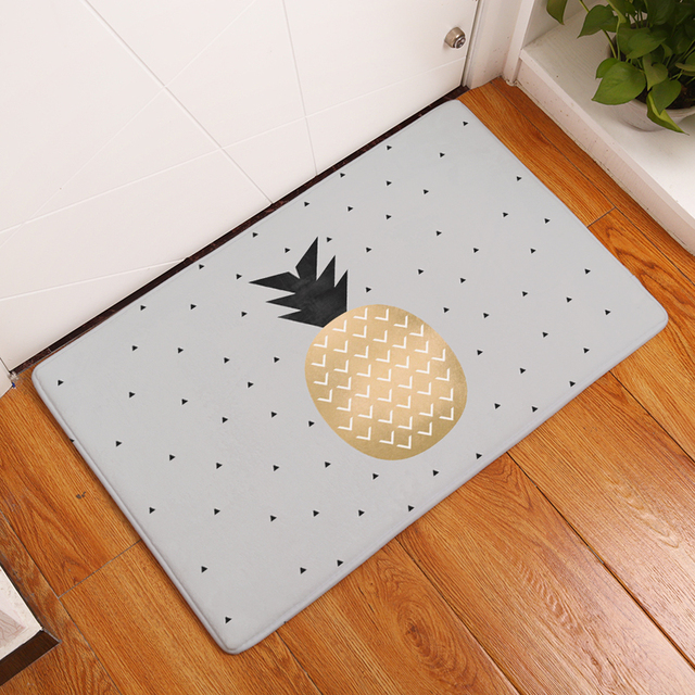 2017 New Home Decor Pineapple Series Carpets Non-slip Kitchen Rugs for Home Living Room Floor Mats 40X60 50X80cm