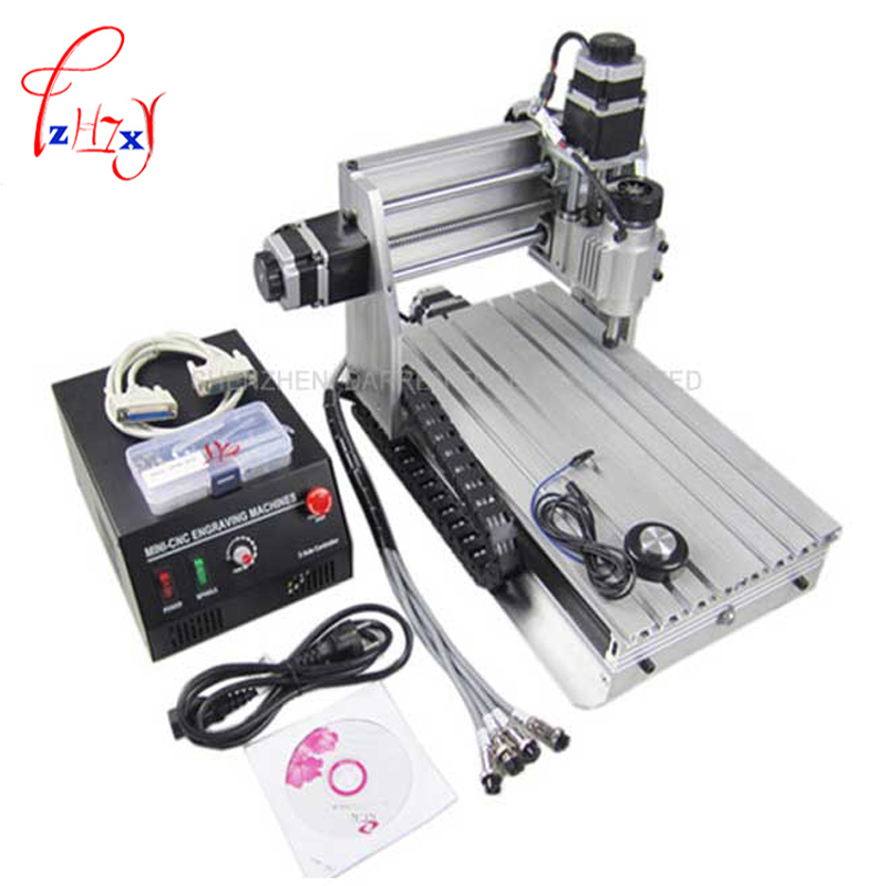 Freeship 3 Axis 3020Z-DQ CNC Router Engraver Cutting Machine CNC 3020 with Ball Screw + 20x 3.175mm 1/8