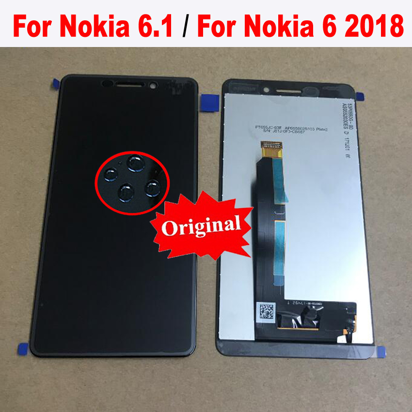 Original Best Work LCD Display Touch Screen Panel Digitizer Assembly Sensor For Nokia 6 2018 6