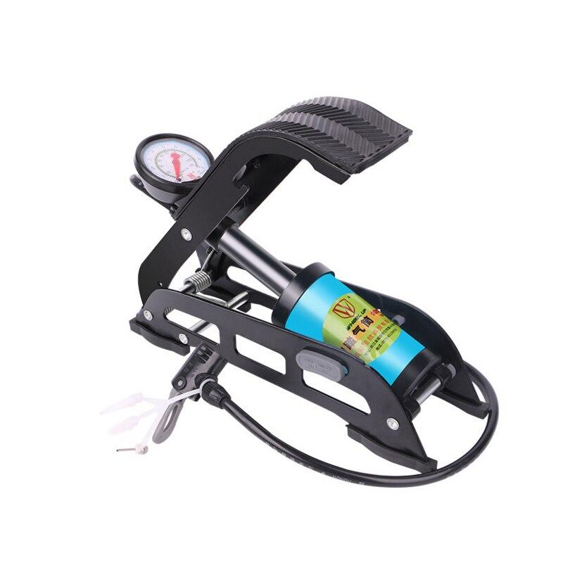 Pompe à Air Portable haute pression en acier sans glissement vtt vélo pompe à Air pour vélo voiture pneu noir et bleu