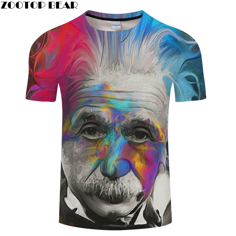 Einstein 3D Print t shirt Men Women tshirts Casual Short Sleeve O-neck Tops&Tee Camisetas 2018 New Arrival Drop Ship ZOOTOP BEAR