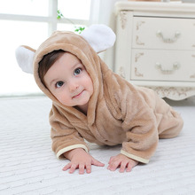 Landozone newborn toddler kids flannel jumpersuit body suit