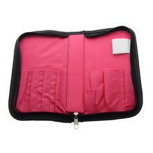 22*11.7cm Size Suit For 8Pcs Make up Brushes Best Cheap Travel Professional Large Cosmetic Makeup Brush Bag And Case