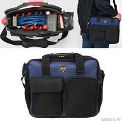 600D Kit de herramientas de reparación bolso de hombro Portátil Bolsa de almacenamiento bolsa organizador con tira reflectante para trabajo de jardinería
