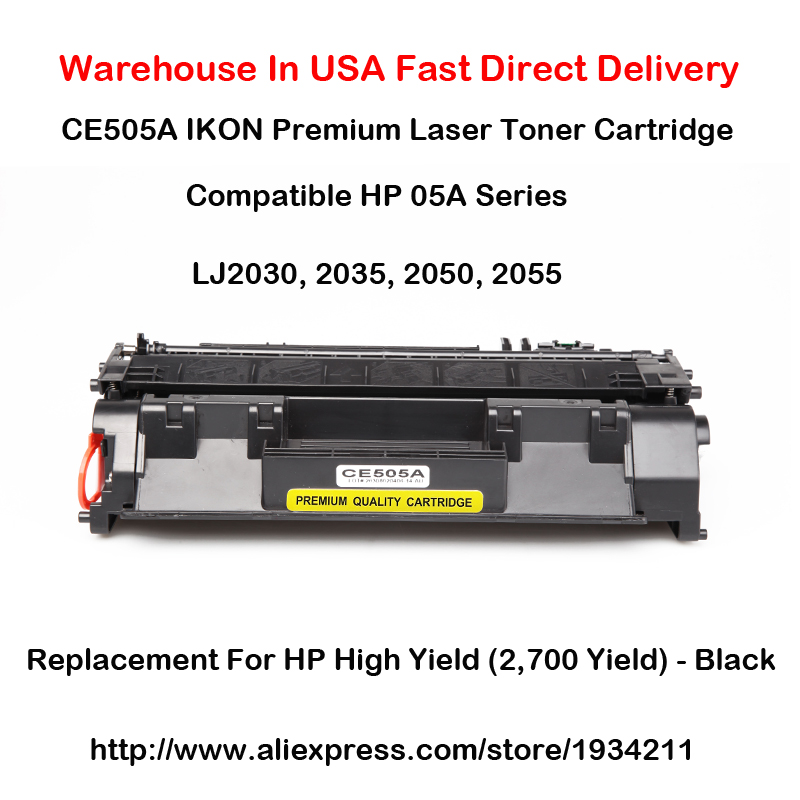 CE505A <font><b>05A</b></font> Series <font><b>Toner</b></font> <font><b>Cartridge</b></font> For <font><b>HP</b></font> LaserJet 2030, 2035, 2050, 2055 High Yield (2,700 Yield) - Black image