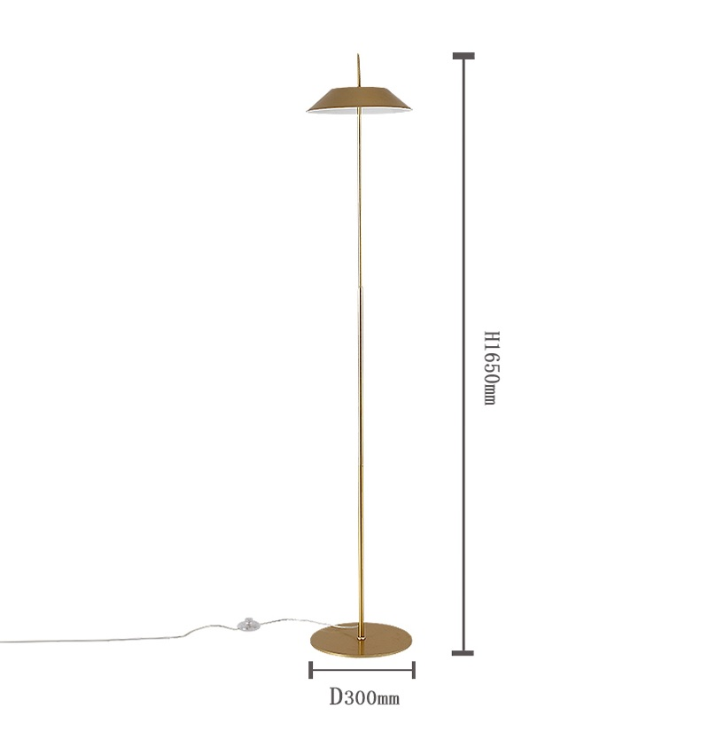 165cm Simplicity LED Floor Lamp / All Metal Design / Bronzing Shade