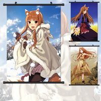 40 60cm NEW Spice And Wolf Wall Scroll Painting Anime Paintings Wall Stickers