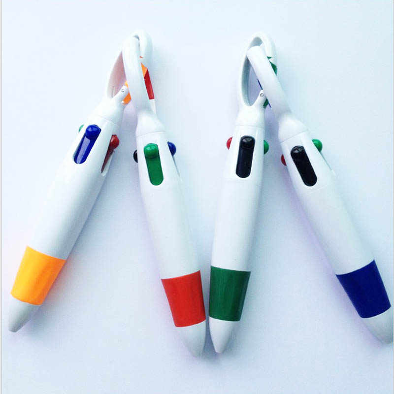 Novelty multicolor ballpoint pen multifunction 4 In1 colorful stationery A G2