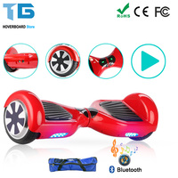 RED 6 5 Inch 8 0 Inch 10 Inch Hoverboard Scooter With Bluetooth Patinetes Electricos Envio