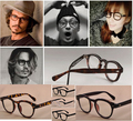 Fashion Vintage Optical Glasses Frame Brand Johnny Depp Favorite Prescription Rx Eyeglasses for Women and Men Eyewear Frames