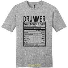 e870e0a5 Gildan Men's t-shirt Drummer Gift Nutritional Facts Gag Gifts Funny Young  Mens T-