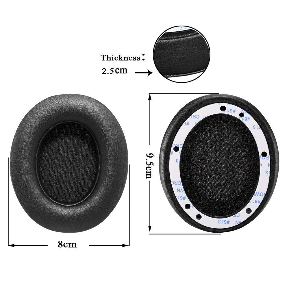 and QuietComfort 35 II 1Pair Printing Bingle Ear Cushions Replacement Ear Pads for Bose Headphones Quiet Comfort 35 QC35 II Headphones with Memory Foam Protein Leather QC35