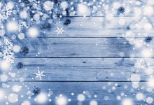 Laeacco Christmas Wooden Board Snowflake Light Bokeh Baby Photography Backgrounds Customized Photo Backdrops For Studio
