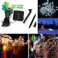 10 M 100 LED Hadas Luz de la Secuencia de Energía Solar Del Jardín Del Partido de Navidad Al Aire Libre de La Lámpara