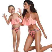 Summer Matching Mother Daughter 2 Pieces Bikini Bathing Suit