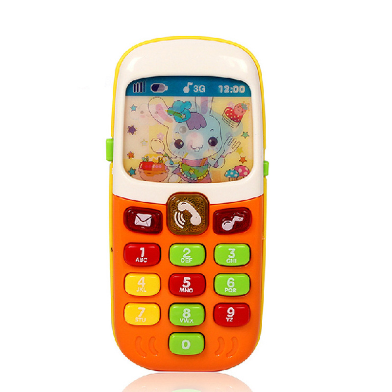 Children Toys Electronic Mobile Phone With Music Kids Baby Infant Cellphone Early Educational Learning Toy Gifts @ NSV77